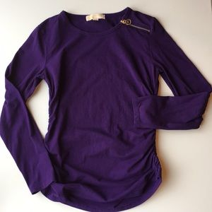 MICHAEL KORS Purple long sleeved top Size M
